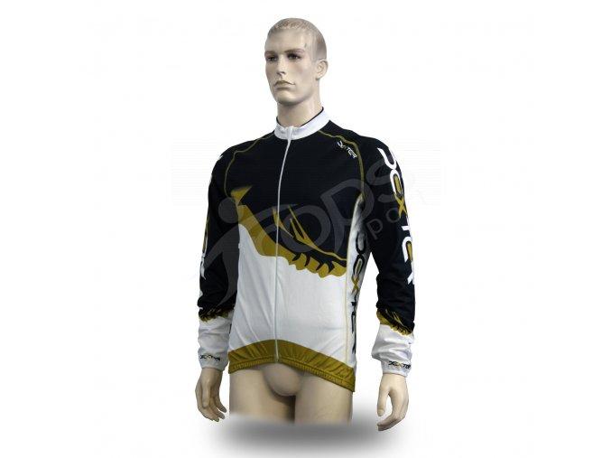 Cyklistický TERMO dres PROFI FOOT - zlatý