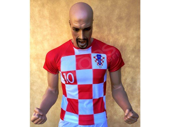 fotbalovy dres chorvatsko luka modric