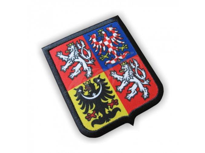 Nášivka znaku ČR 70x80 mm - nažehlovací