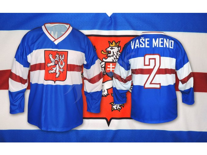 hokejovy retro dres csr top modry
