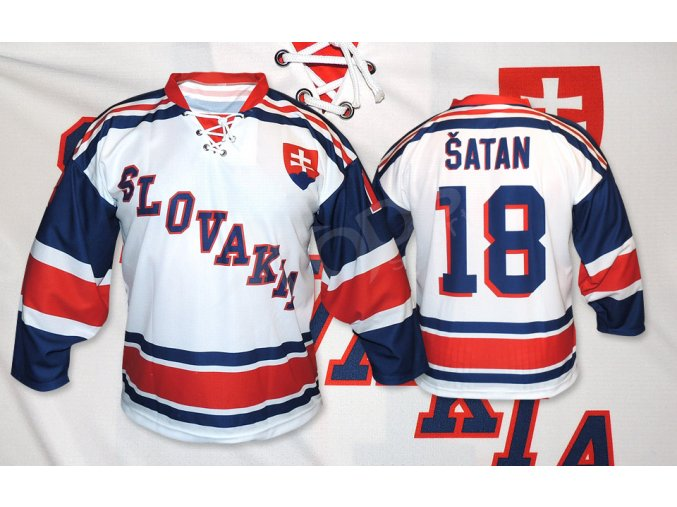 hokejovy retro dres slovensko bily