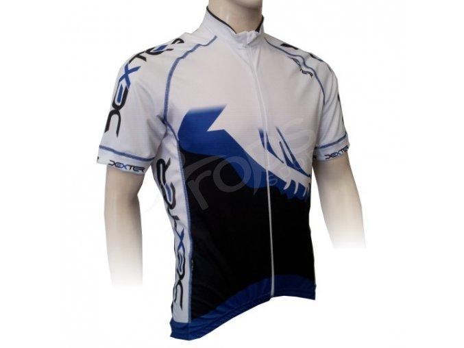 Cyklistický dres PROFI FOOT - tmavě modrý