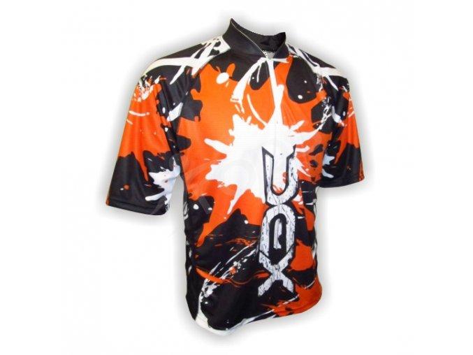 Cyklistický dres MTB SPLASH - oranžový