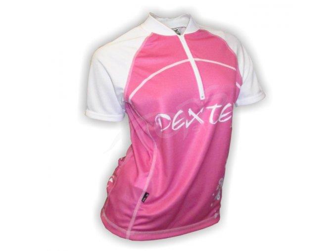 Cyklistický dres dámský LADIES - růžový
