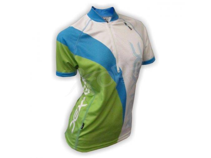 Cyklistický dres dámský WAVE - zeleno-bílý