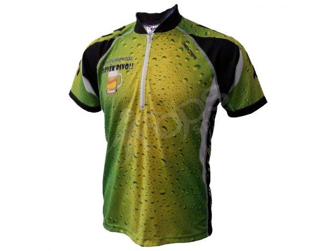 Cyklistický dres PIVO MTB - zelený