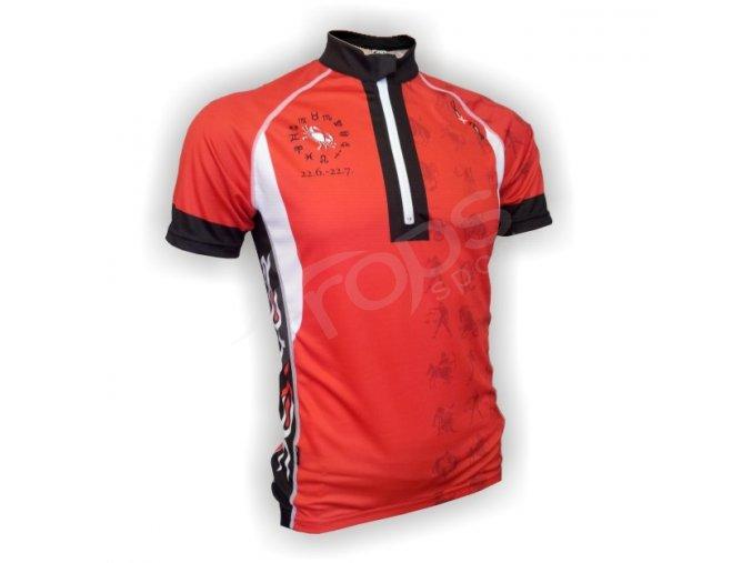 Cyklistický dres ZVĚROKRUH silniční - červený