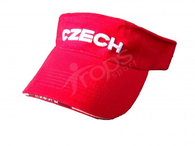 Kšilt ČESKÁ REPUBLIKA - červený