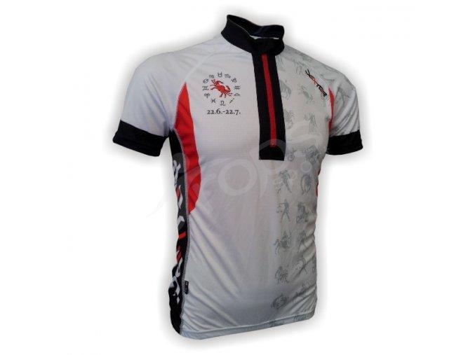 Cyklistický dres ZVĚROKRUH silniční - bílý