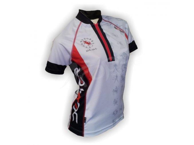 Cyklistický dres ZVĚROKRUH silniční dámský - bílý