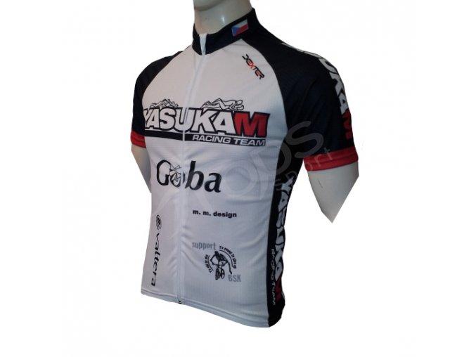 Cyklistický dres YASUKAM - bily