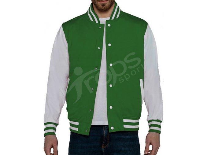mikina baseball campus jacket zelena
