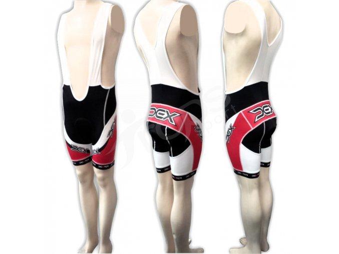 Cyklistické kalhoty s laclem LANCE - krátké červené