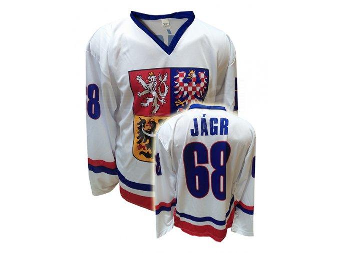 Hokejový dres ČR JAROMÍR JÁGR - bílý