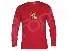 Tričko ČSSR dlouhý rukáv červené