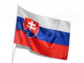 Slovenská vlajka na tyči 90 x 60 cm