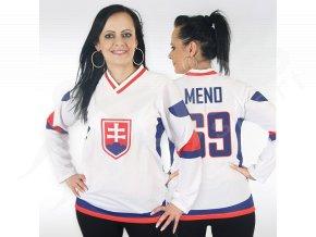 Dámský hokejový dres Slovensko TOP - bílý