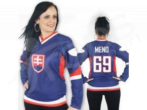 Dámský hokejový dres Slovensko TOP - modrý