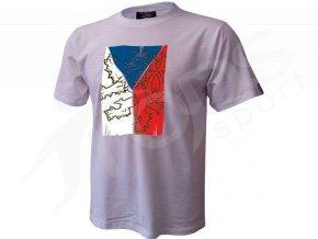 Tričko CZECH VLAJKA - bílé