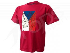 Tričko CZECH VLAJKA - červené