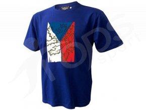 Tričko CZECH VLAJKA - modré