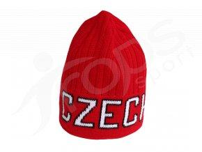 Zimní čepice CZECH červená