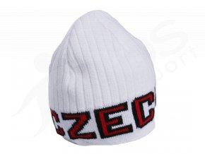 Zimní čepice - CZECH - bílá
