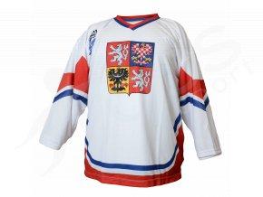 Hokejový dres CZECH TOP - bílý