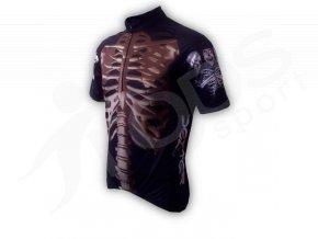 Cyklistický dres KOSTRA silniční - černý