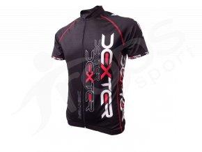 Cyklistický dres IMAGE - černo červený