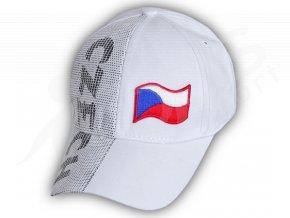 Kšiltovka ČESKÁ REPUBLIKA bílá