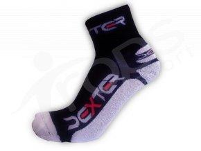 Ponožky DEXTER klasic froté černo-bílé
