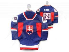 Hokejový mini dres SLOVENSKO - modrý