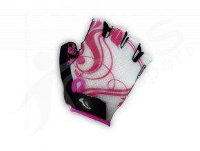 Cyklo rukavice DEXTER LADY růžové