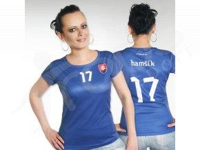 Fotbalový dres SLOVENSKO dámský modrý