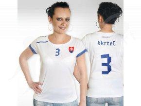 Fotbalový dres SLOVENSKO dámský bílý