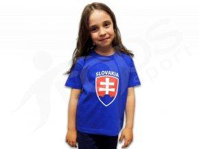 Dětské tričko SLOVENSKO modré