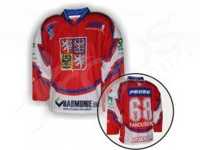 Hokejový dres in-line CZECH - VLASTNÍ JMÉNO a ČÍSLO - červený