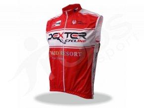 Cyklo vesta DEXTER CYCLING no wind - červená