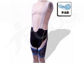 Cyklistické kalhoty s laclem Rytíři KLADNO - krátké