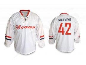 Hokejový dres RETRO HC SLOVAN BRATISLAVA - bílý