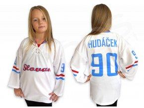 Hokejový dres RETRO HC SLOVAN BRATISLAVA dětský - bílý