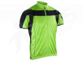 Cyklistický dres Spiro Bike FULL zelený