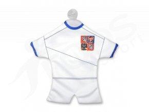 Fotbalový mini dres ČR - bílý