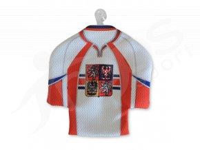 Hokejový mini dres ČR - bílý
