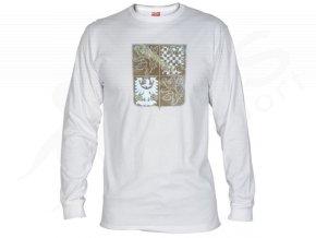 Tričko CZECH dlouhý rukáv - bílé
