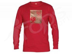 Tričko CZECH dlouhý rukáv - červené