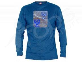 Tričko CZECH dlouhý rukáv - modré
