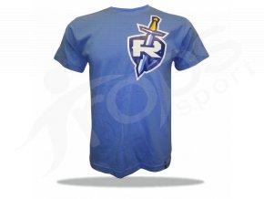 Tričko RYTÍŘI štít s mečem - modré