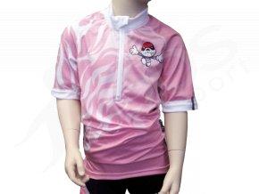 Cyklistický dres PICAROON dětský - růžový